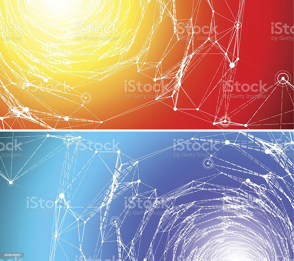 Two communication backgrounds. vector art illustration