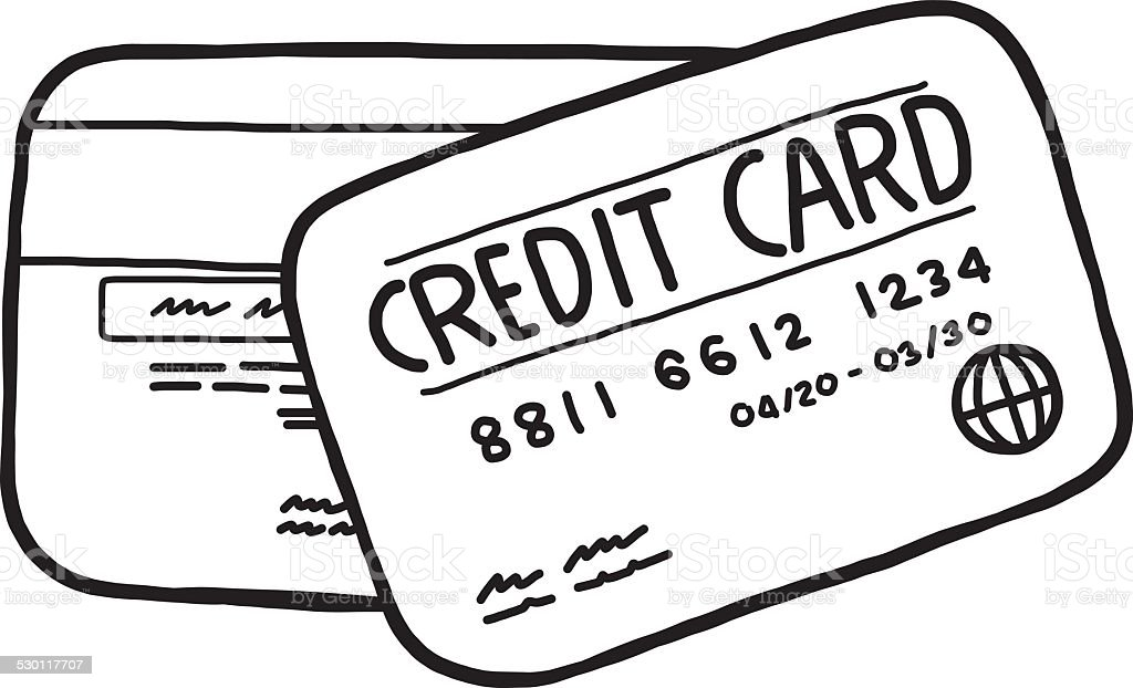 royalty free two credit cards clip art vector images rh istockphoto com credit card clipart png credit card clipart black and white