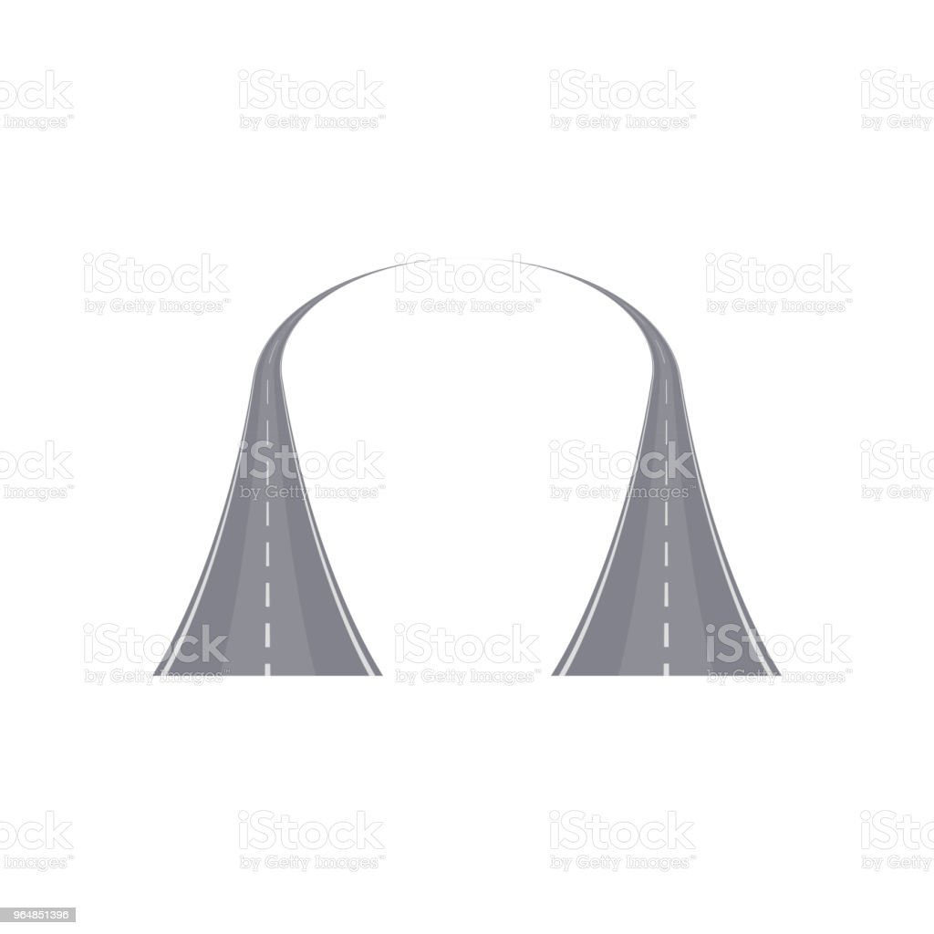Two curved highway with markings royalty-free two curved highway with markings stock vector art & more images of accessibility