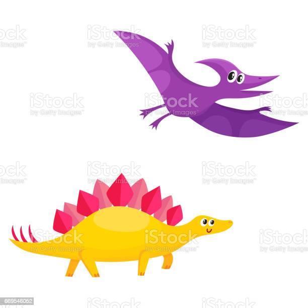 Two cute and funny baby dinosaur characters stegosaurus and vector id669546052?b=1&k=6&m=669546052&s=612x612&h=wskcv rhctv3n8cgn4ebd4xvzhlq3bgfq cxvefhymm=