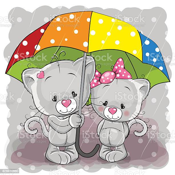 Two cute cartoon kittens with umbrella vector id626610880?b=1&k=6&m=626610880&s=612x612&h=utwvtgtynd frndm0juwtlwsjotfvgyfhjy6b2wjg9y=