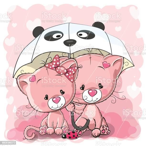 Two cute cartoon kittens with umbrella vector id683098372?b=1&k=6&m=683098372&s=612x612&h=xghlfu3xittvybukxyspw i7usdmxze9s  r8agmony=
