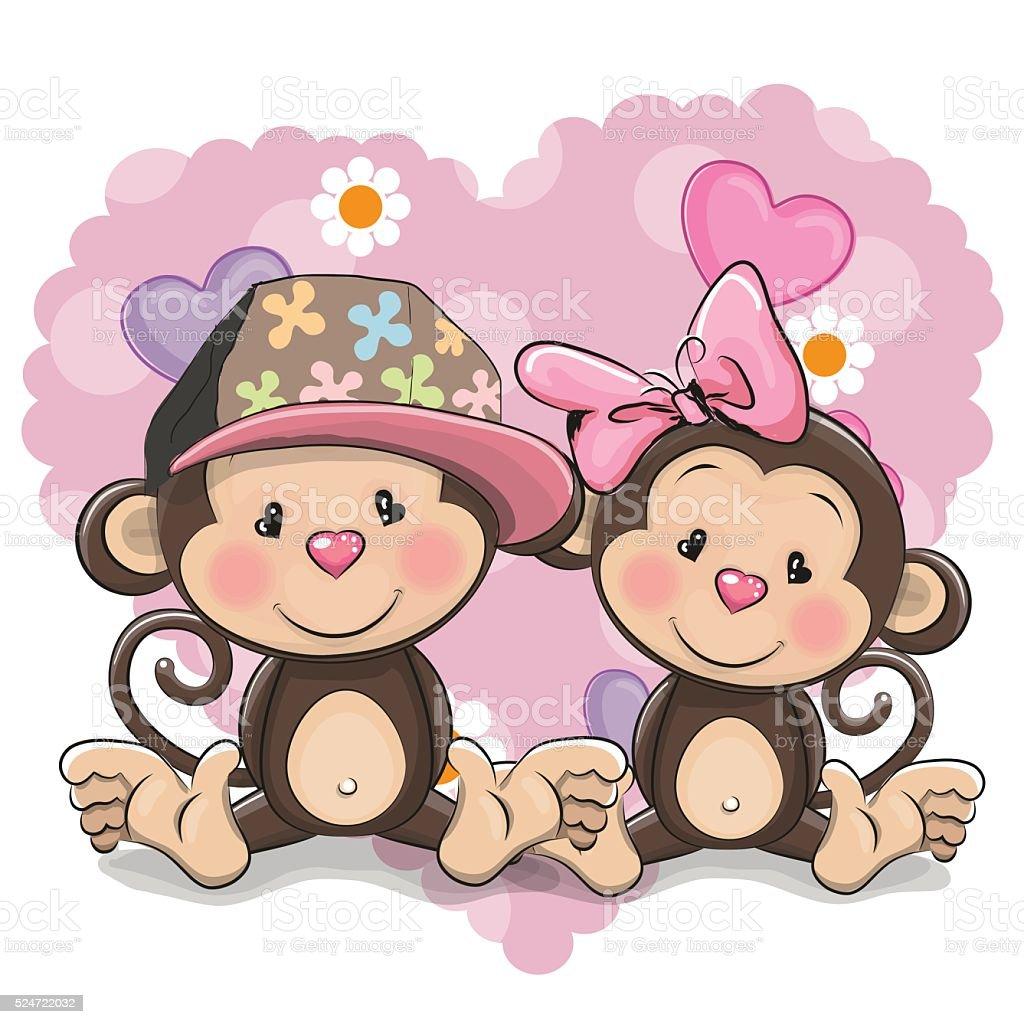 2 つのかわいい猿 おもちゃのベクターアート素材や画像を多数ご用意 Istock