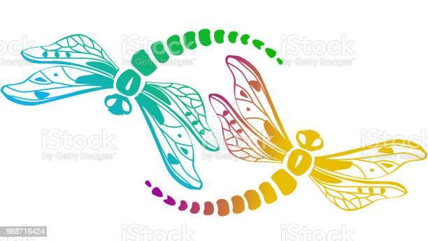 Two decorative dragonflies vector id988716424?b=1&k=6&m=988716424&s=612x612&h=nilx lufooyrtzaeqfb0jfpgx184 i0ztpglqkbpm2w=
