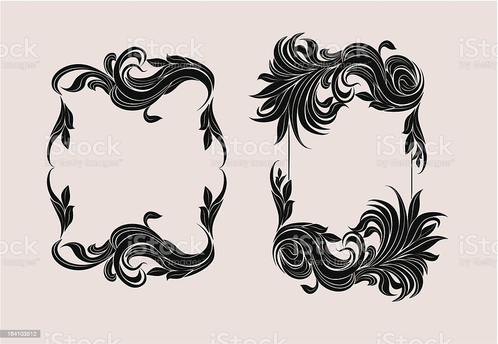 two decorative frames royalty-free stock vector art