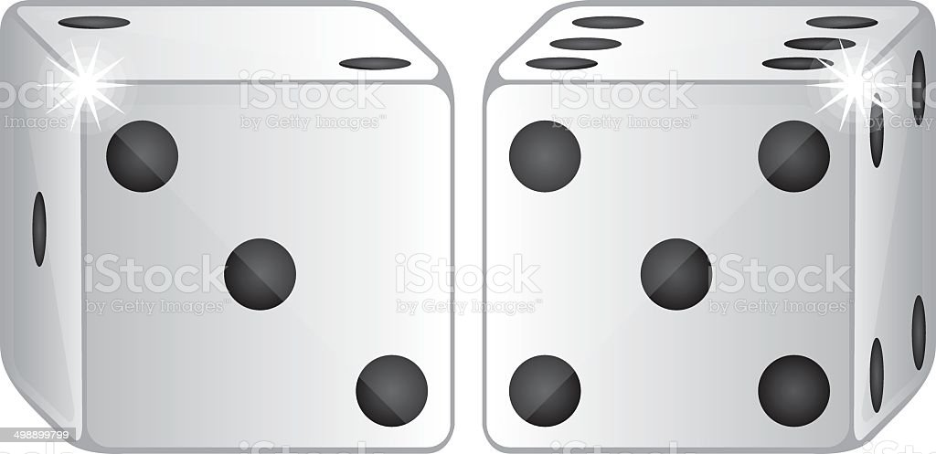 two dices vector royalty-free two dices vector stock vector art & more images of arts culture and entertainment