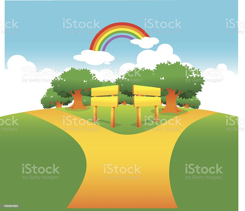 Two different path royalty-free two different path stock vector art & more images of alley