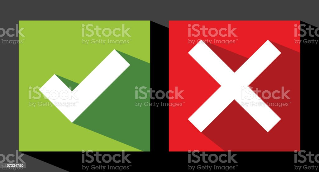 Two different types of check mark stickers royalty free two different types of check mark