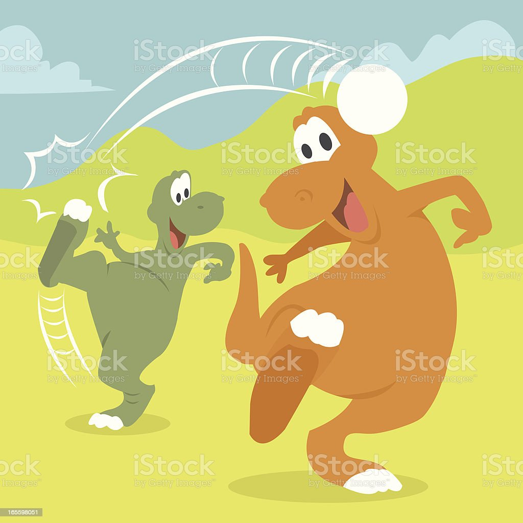 Two dinos playing football royalty-free two dinos playing football stock vector art & more images of ancient