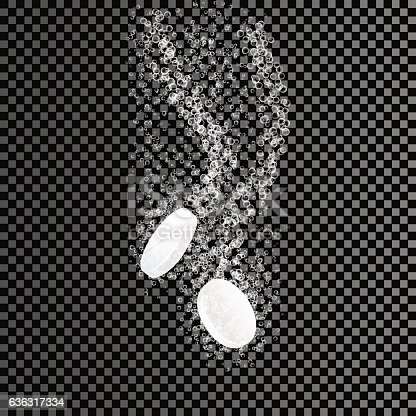 Two dissolving tablets soluble pill on transparent background two dissolving tablets soluble pill on transparent background effervescent tablet 636317334 istock voltagebd Choice Image