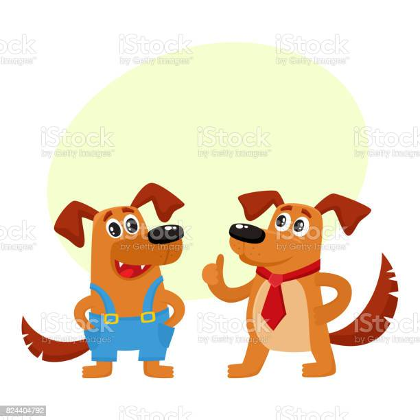 Two dog characters in blue overalls and red tie vector id824404792?b=1&k=6&m=824404792&s=612x612&h=kfz6cj hnkg4bojrztgqkiacrtetwogf edqzoks73o=