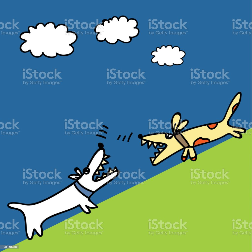Two dogs royalty-free two dogs stock vector art & more images of aggression