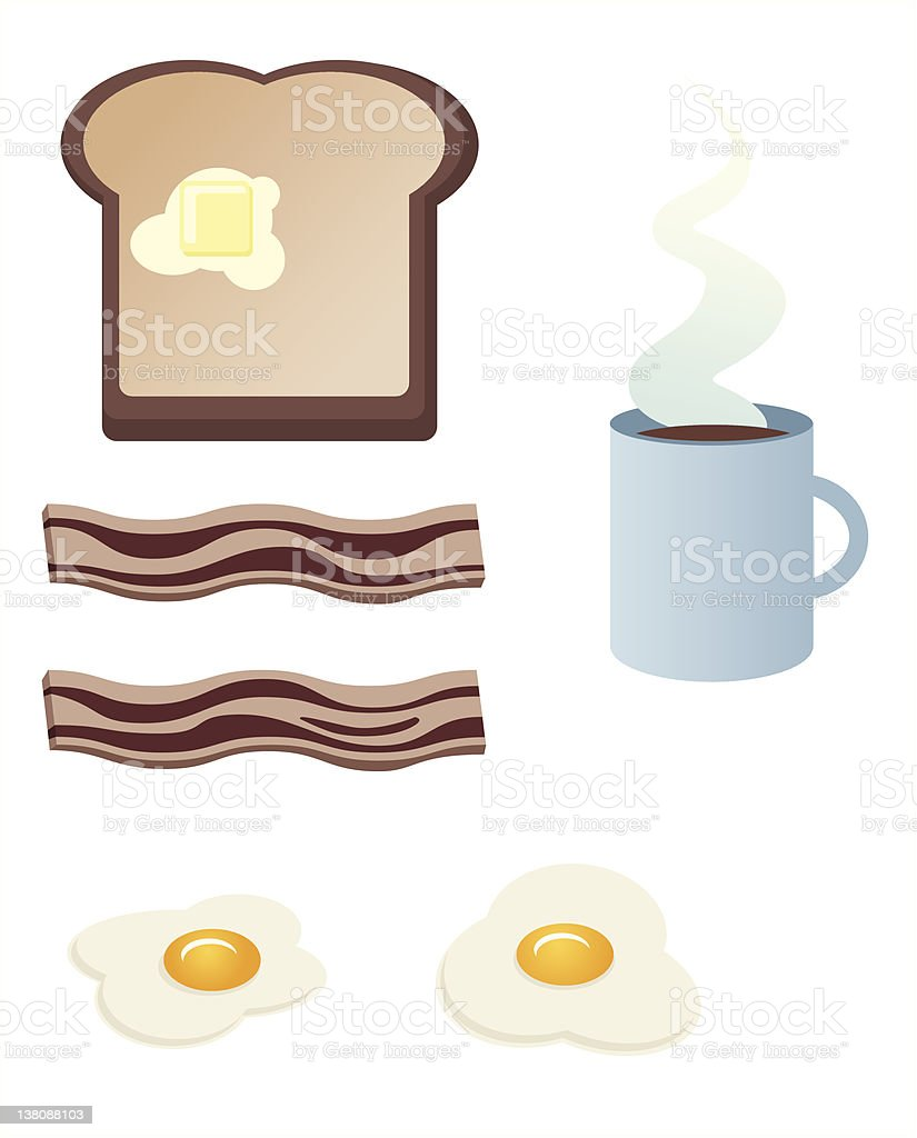 Two eggs over easy royalty-free stock vector art