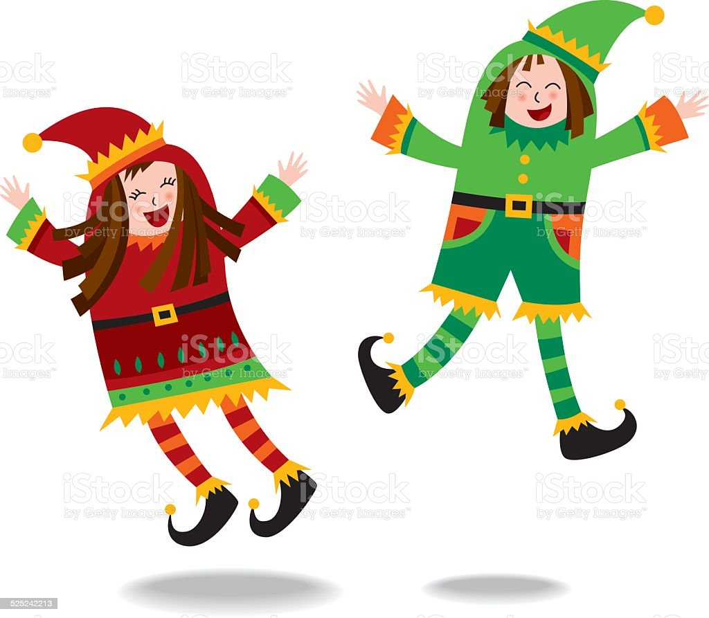 Two elves royalty-free two elves stock vector art & more images of cheerful