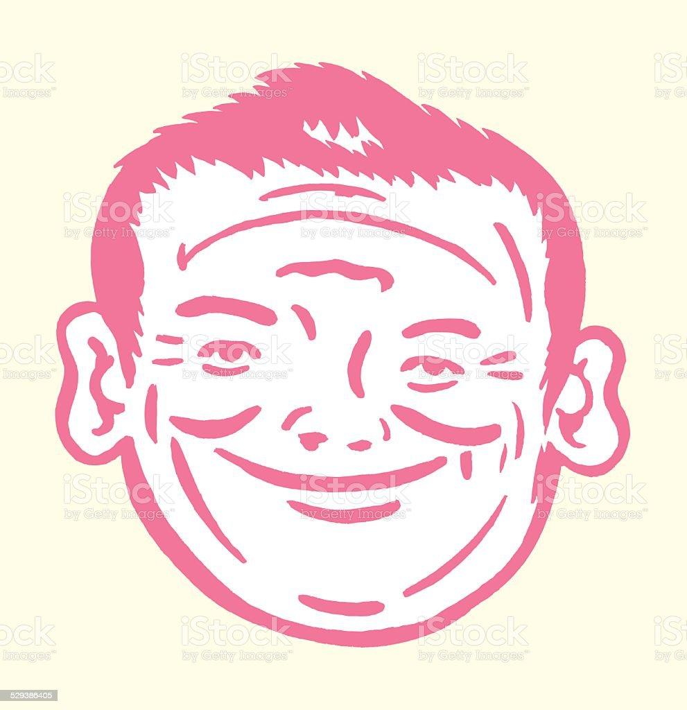 Two Face Man vector art illustration