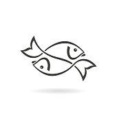 istock Two fish icon 1204762049