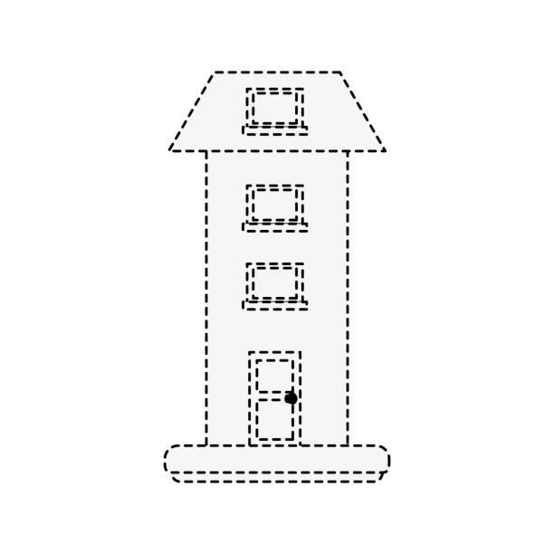 zweistöckiges haus - blackpool stock-grafiken, -clipart, -cartoons und -symbole