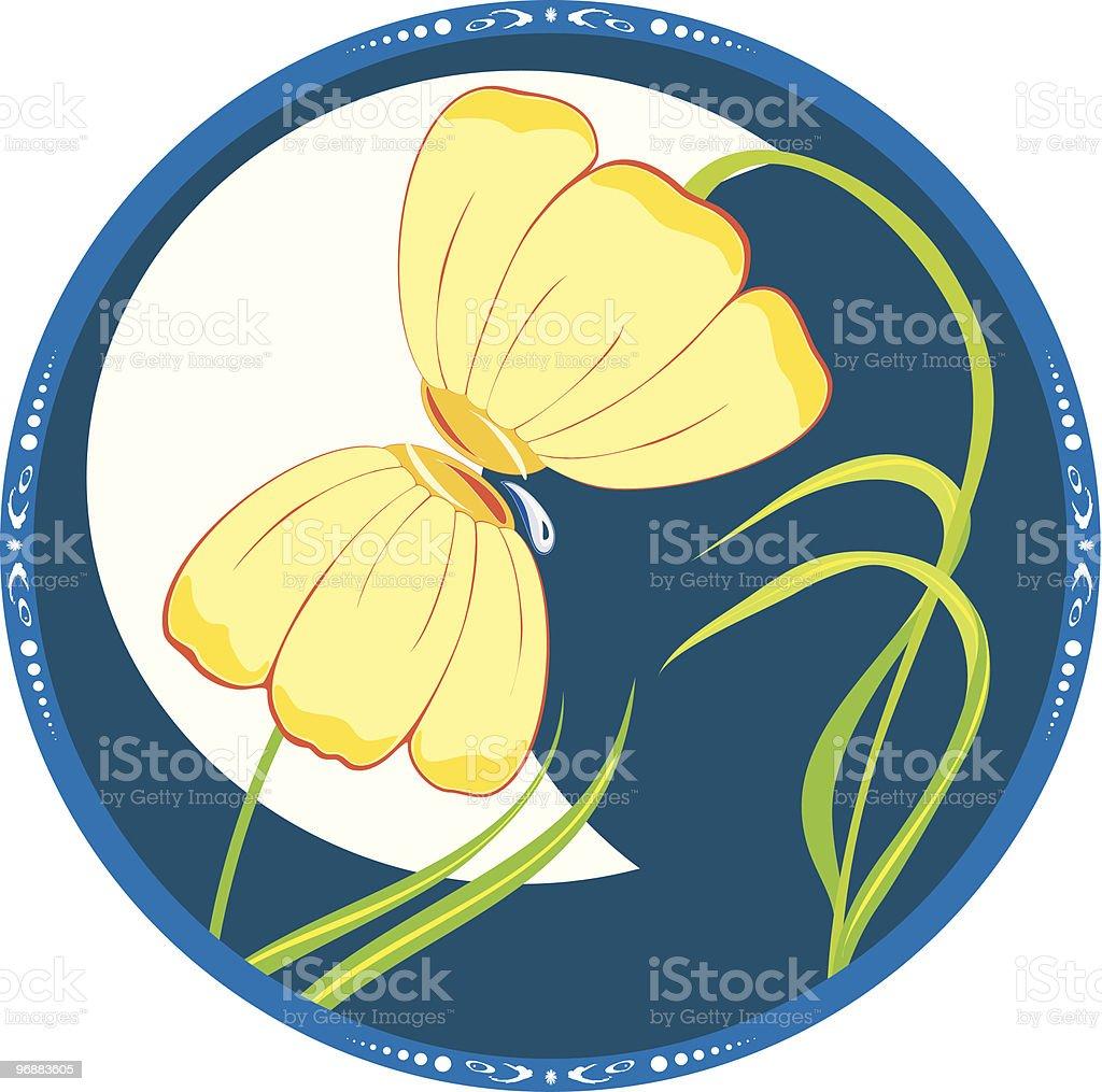 Zwei Blumen Liebe Lizenzfreies zwei blumen liebe stock vektor art und mehr bilder von abstrakt