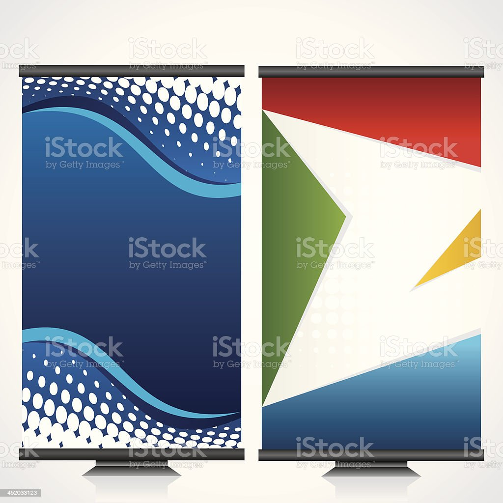 two flyer design royalty-free stock vector art