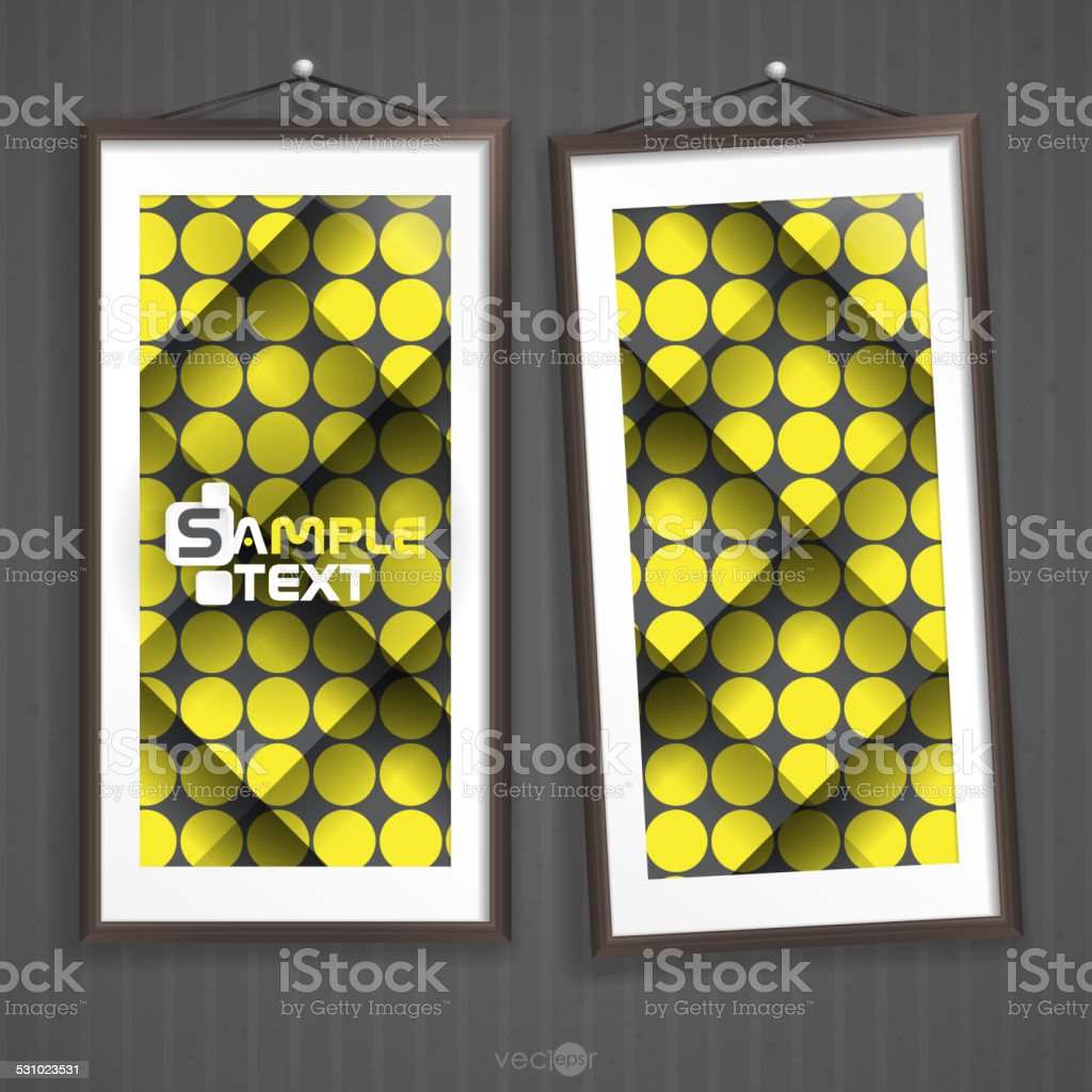 Two Frames Of Picture On A Striped Old Wall Stock Vector Art & More ...