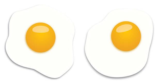 zwei spiegeleier - spiegelei stock-grafiken, -clipart, -cartoons und -symbole