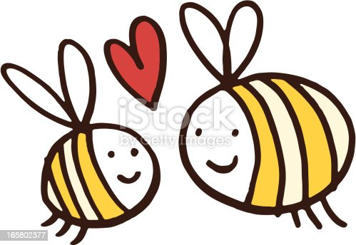 istock Two friendly bees 165802377