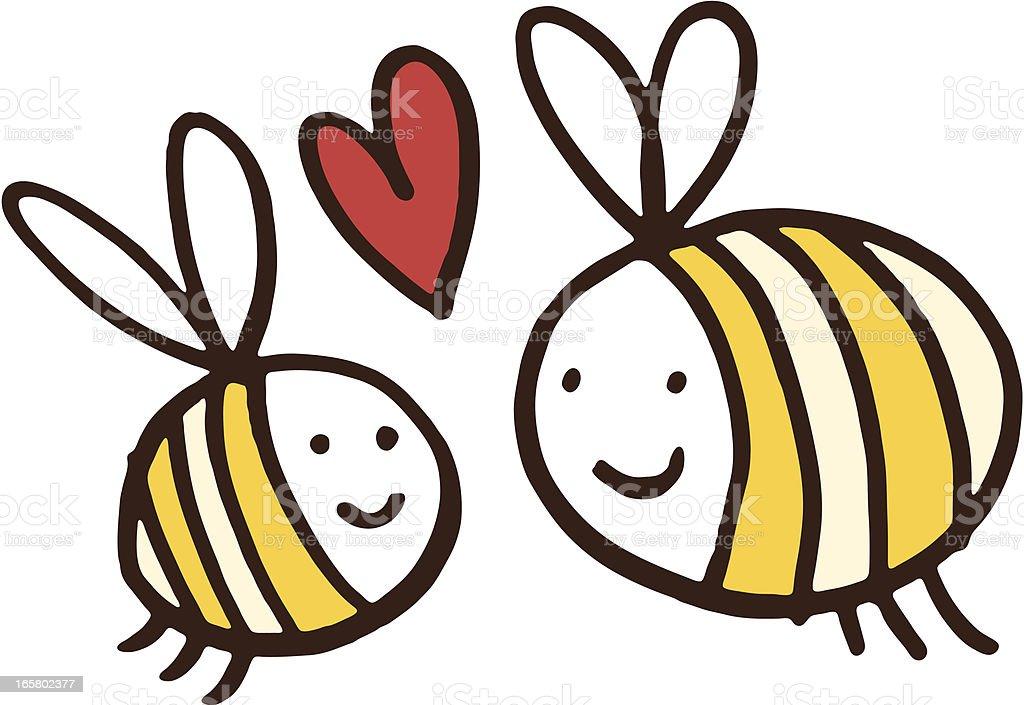 Zwei freundliche bees – Vektorgrafik