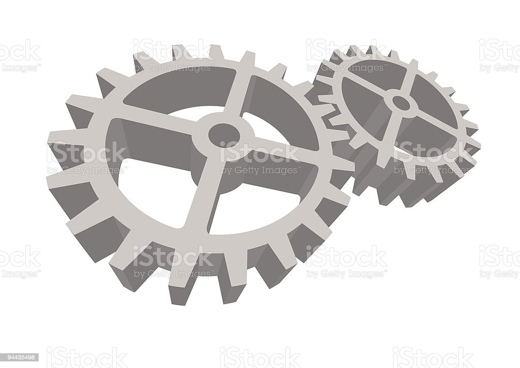 Two gears connected royalty-free two gears connected stock vector art & more images of abstract