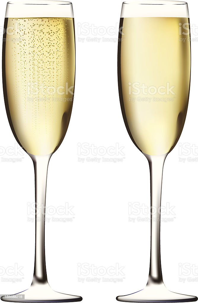 Two glasses filled with champagne royalty-free two glasses filled with champagne stock vector art & more images of alcohol
