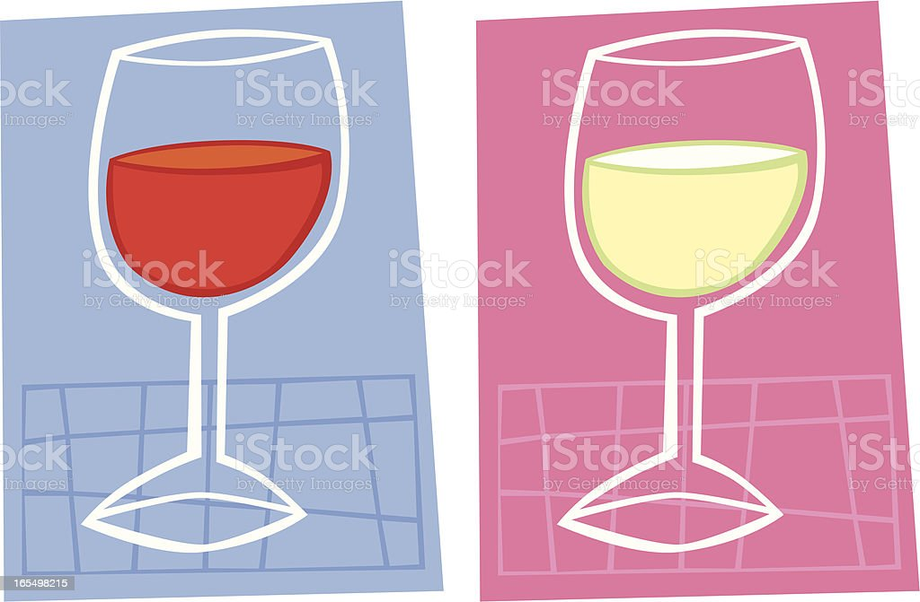 Two glasses of wine royalty-free two glasses of wine stock vector art & more images of alcohol