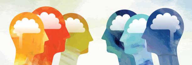 Zwei Gruppen Konfrontation Konzept – Vektorgrafik