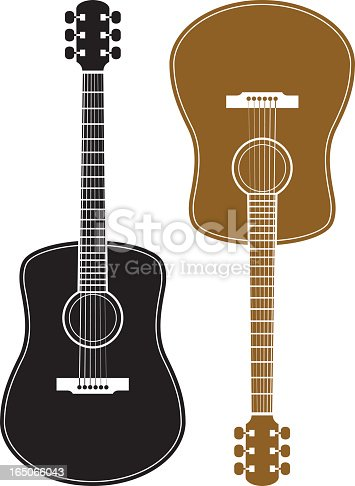 istock Two guitars on a white background 165066043