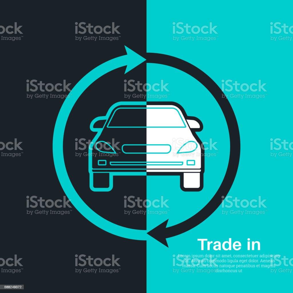 Two halves vector art illustration