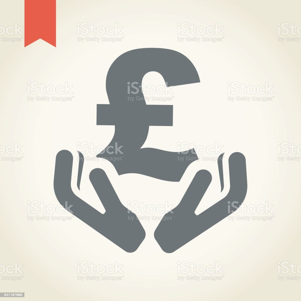 Two hand holding pound sterling currency symbol stock vector art two hand holding pound sterling currency symbol royalty free stock vector art biocorpaavc Gallery
