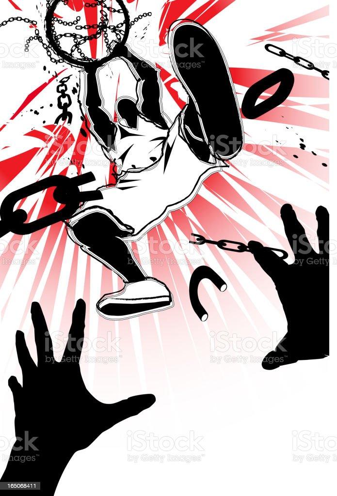 Two hand jam vector art illustration