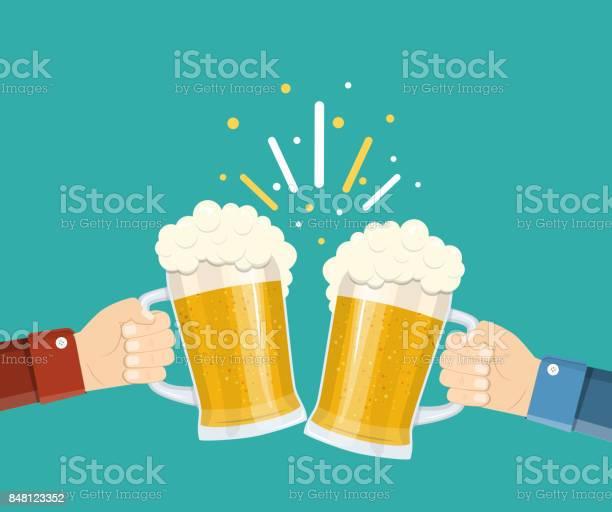Two hands holding beer glasses vector id848123352?b=1&k=6&m=848123352&s=612x612&h=ihl0ceajrfao4o45dyy4ldidqsdju4nlvmlfdquj 6q=