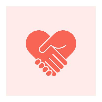 Two hands in shape of heart