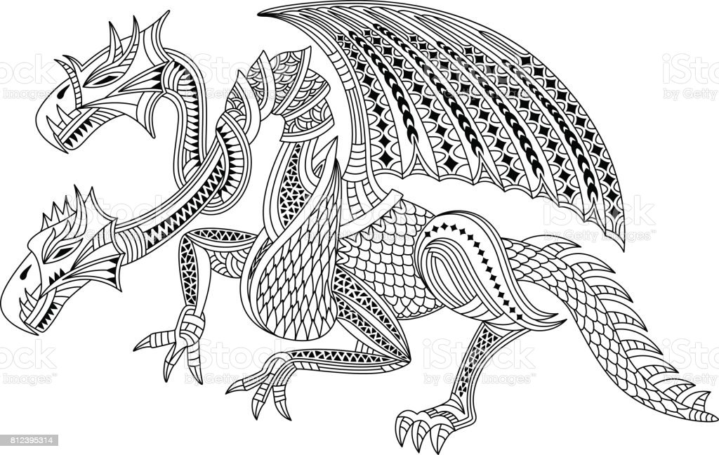 Two Headed Dragon Stock Illustration Download Image Now Istock