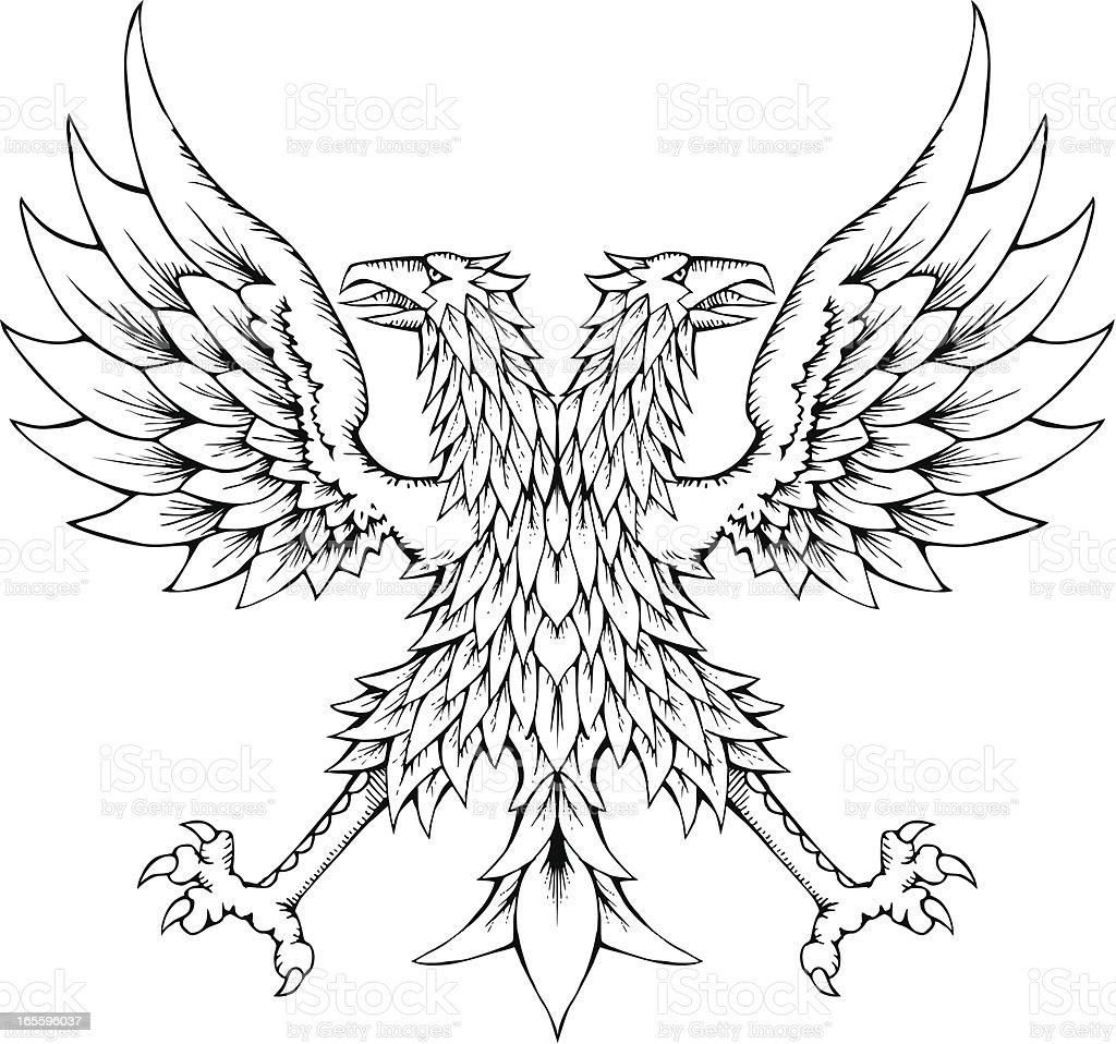 Two Headed Eagle royalty-free two headed eagle stock vector art & more images of animal
