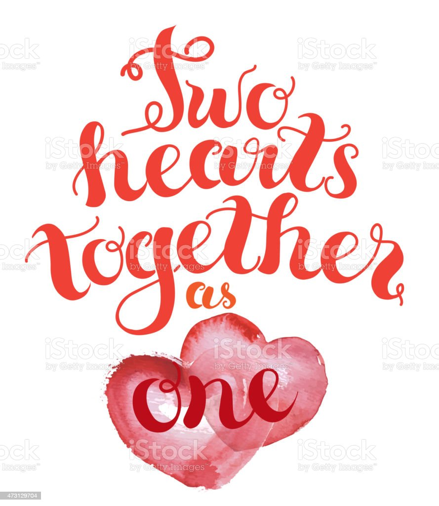 Two hearts together royalty-free two hearts together stock illustration - download image now