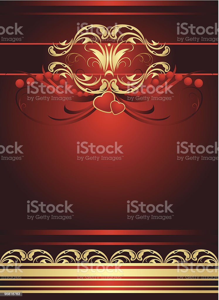 Two hearts with gothic ornament royalty-free two hearts with gothic ornament stock vector art & more images of art title