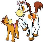 horses illustration isolated on white background