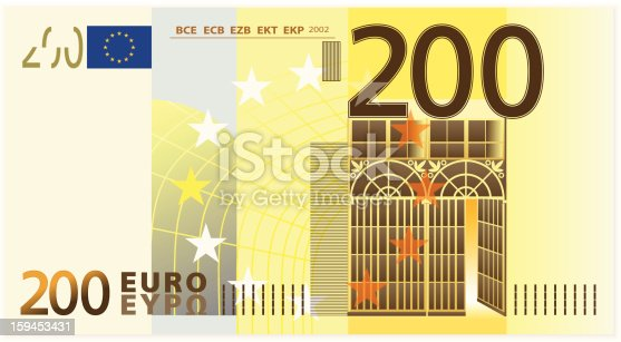 istock Two hundred euro banknote 159453431