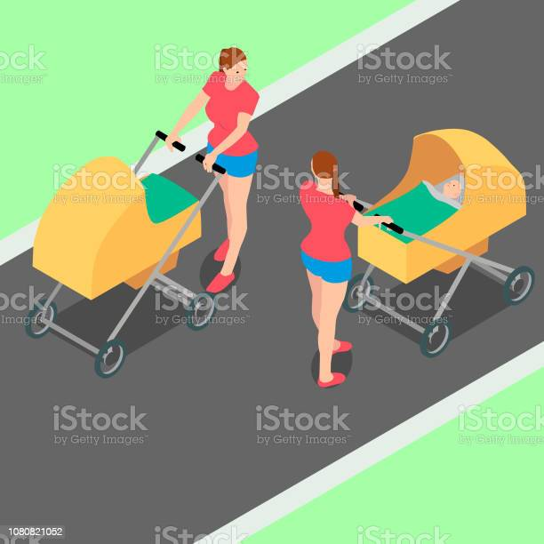Two identical women with strollers are walking in the park vector id1080821052?b=1&k=6&m=1080821052&s=612x612&h=adufub8jzal0vyhks4kw4tfdvhmhp6vyc4yb4z2c0q0=