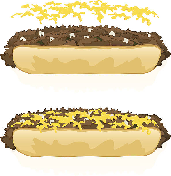 two illustrations of philly cheesesteak sandwiches - sub sandwich stock illustrations, clip art, cartoons, & icons