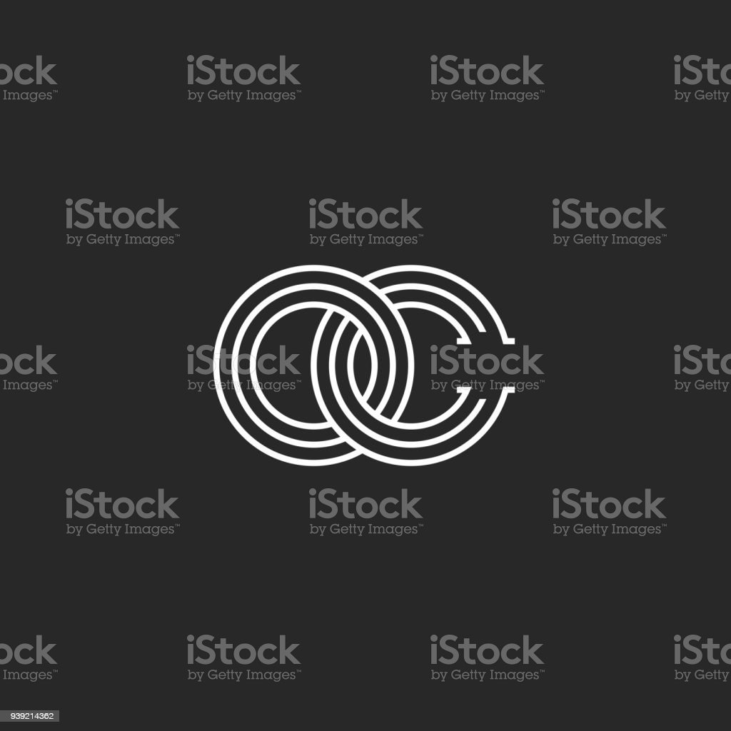 Two Intersection Letters Oc Monogram Co Emblem Infinity Symbol O And