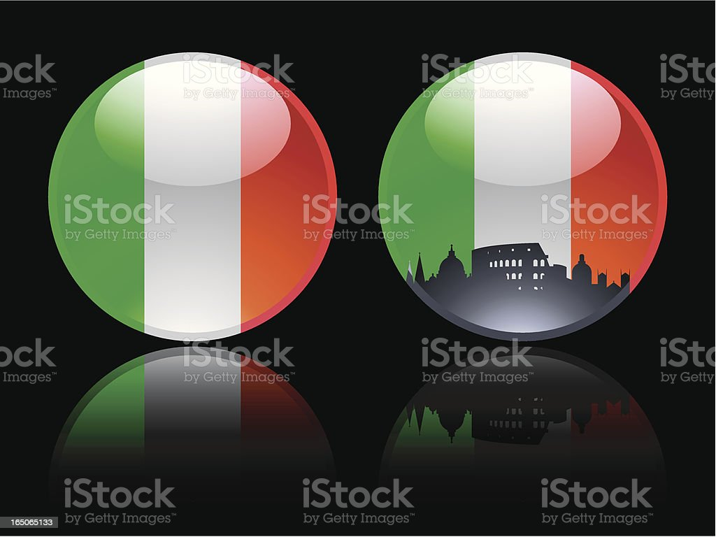 Two Italian Marbles royalty-free stock vector art