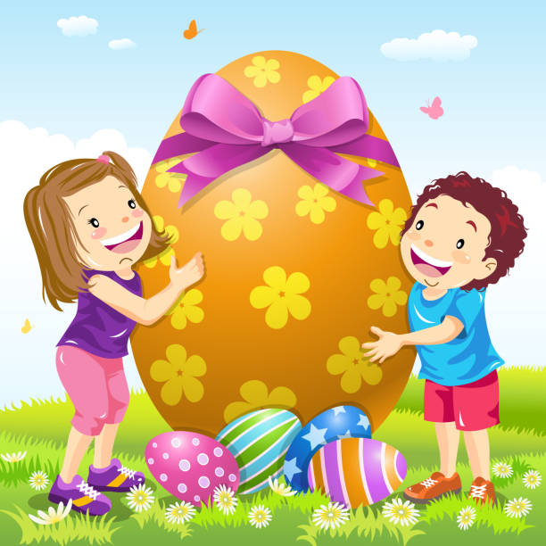 Top Easter Egg Hunt Kids Clip Art, Vector Graphics and ...