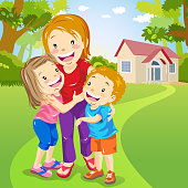 istock Two Kids Embracing Mother 945415254