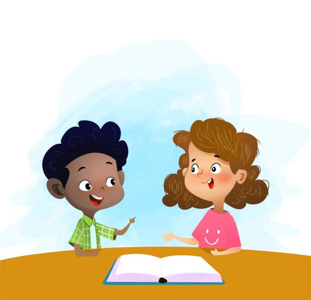 Two Boys Talking Illustrations, Royalty-Free Vector ...